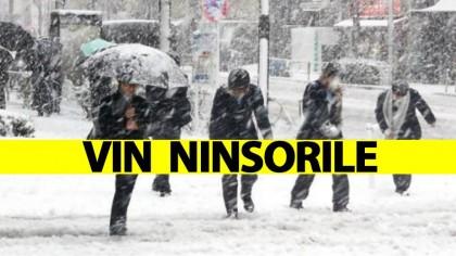 ANM anunță URGIA ALBĂ! Vin ninsorile în România