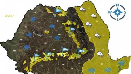 ANM a modificat prognoza. Se strică vremea în România. Urmează 15 ore crunte
