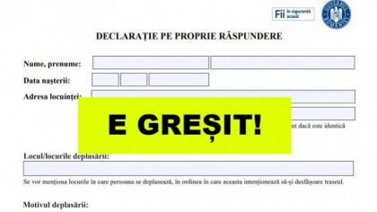 ATENȚIE! Greşeala pe care o fac românii în declaraţia pe propria răspundere! Poţi să primeşti amenzi uriaşe