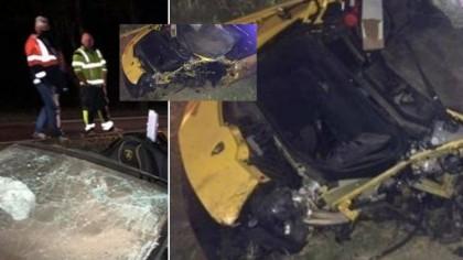 Accident terifiant al faimosului puști milionar: a făcut praf un Lamborghini de 220.000 de euro! Imagini înfiorătoare de la locul impactului