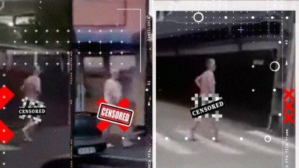A alergat trei kilometri, gol-pușcă, pe străzile din Craiova. Soțul încornorat a filmat fiecare moment