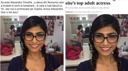 """Consilier PSD a distribuit pe Facebook o poză cu o actriţă porno despre care a spus că e """"o elevă de 10 la BAC"""""""