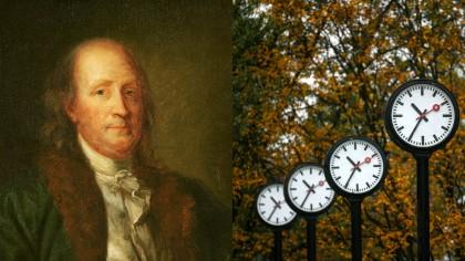 """Ora de iarnă 2020: România dă ceasul înapoi în """"cea mai lungă noapte din an"""", dar ar putea exista efecte pe termen scurt asupra sănătăţii. Reglementarea propusă de Benjamin Franklin în 1784"""