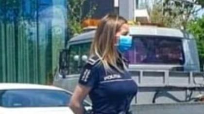 Poartă uniformă de poliție și a primit mii de like-uri. Unii zic că arată mai bine decât polițista de la Rutieră