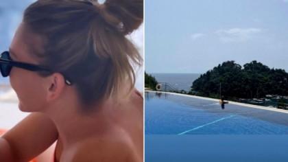 Simona Halep și-a inaugurat piscina la vila de la Izvorani și a făcut senzație în costum de baie | GALERIE FOTO
